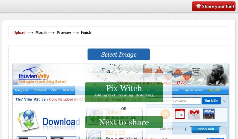Pix Witch, Online framing tools